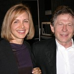 Fabiene interpreting for Roman Polanski in 2004