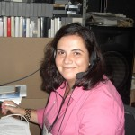 Maria Eugenia in the translation booth